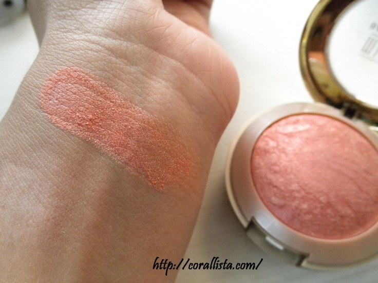 I was using ELF Studio Blush in Candid Coral for my NARS Orgasm dupe...and then I picked this up: Milani Baked Blush in Rose D'Oro. OH. MY. GOD. I can't even begin to explain how amazing these blushes are and this warms up my complexion so well.