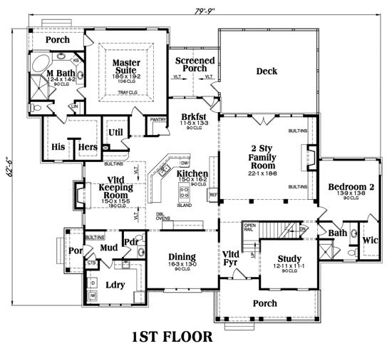 House Plan 009 00087 Southern Plan 4 416 Square Feet 5
