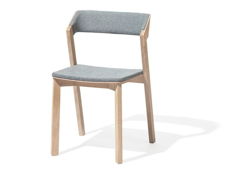 Download the catalogue and request prices of upholstered solid wood chair Merano | upholstered chair, design Alexander Gufler, Design & Wood collection to manufacturer Ton