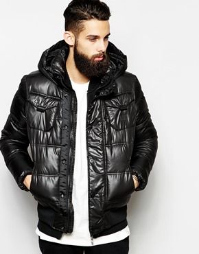 G Star Quilted Bomber Jackets Whistler Hooded