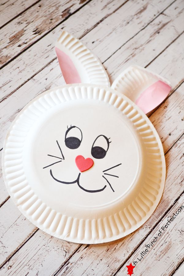 Paper Plate Bunny Craft-Easy Easter/Spring craft
