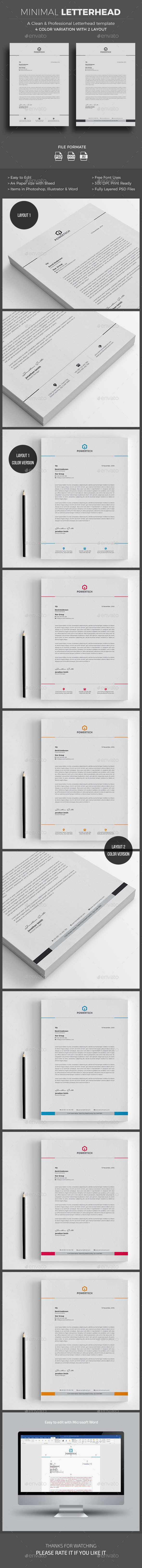 #Letterhead - #Stationery Print Templates