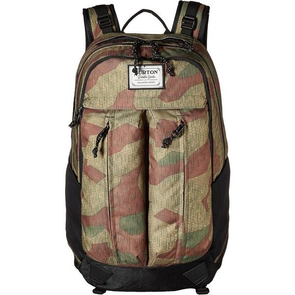 Burton Bravo Pack (Splinter Camo Print) Backpack Bags (105 CAD) ❤ liked on Polyvore featuring men's fashion, men's bags, men's backpacks, multi, mens camo backpack, mens laptop backpack and mens one strap backpack
