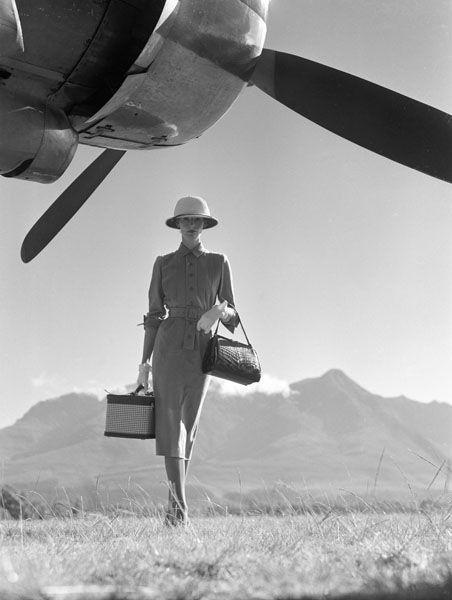 The Art of Travel by Norman Parkinson in Vogue 1951...