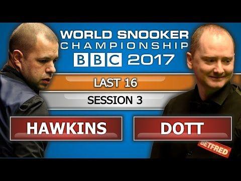 Barry Hawkins v Graeme Dott ᴴᴰ World Snooker Championship 2017 L16 Session 3 - YouTube