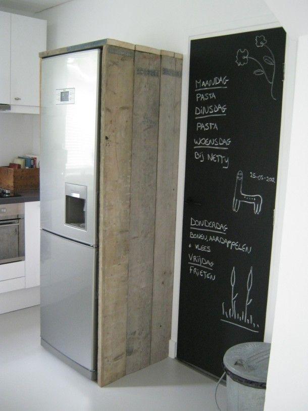 Bekleed de koelkast en past bij de rest van de keuken door groen my future kitchen keuken - Koelkast groen ...