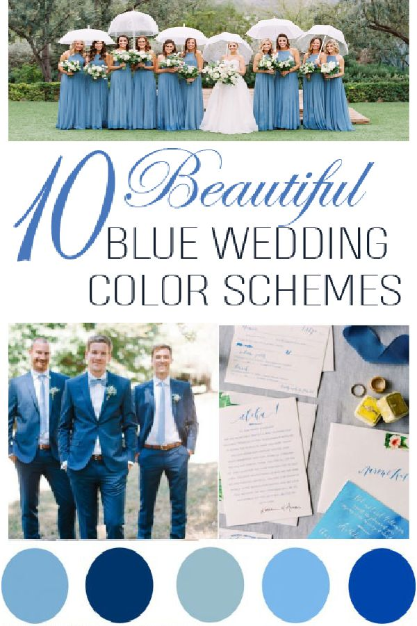 10 different blue shaded weddings, check these beautiful options for your wedding!