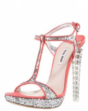 Miu Miu zilveren sandalen