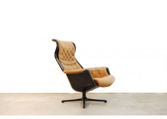 Galaxy Lounge Chair by Alf Svensson and Yngvar Sandström for Dux, 1970s for sale at Pamono