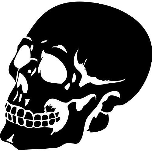 Items similar to goth skull decal human skull sticker wall decal halloween wall decor vinyl decal mural on etsy