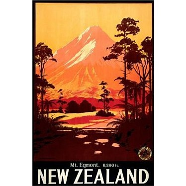 Vintage Poster of Mt Egmont (Taranaki)