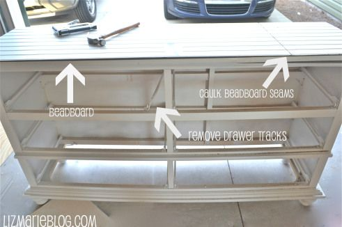 how to add shelves to replace drawers