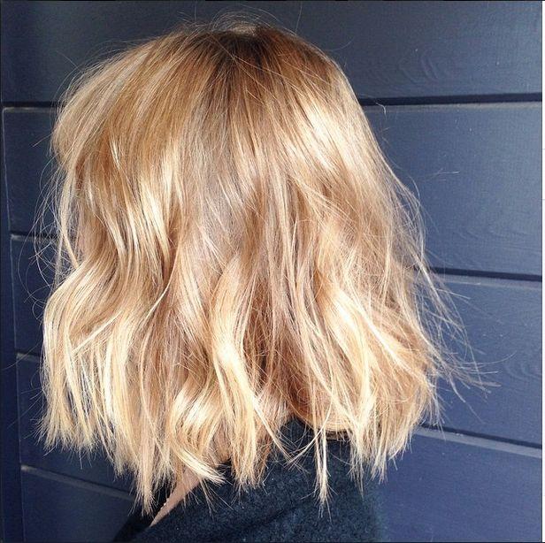 Edo Salon - San Francisco, CA, United States. Beautiful blonde balayage/hair painting and piecey bob by Becky Borman xoxo
