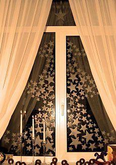 Несложно и недорого;) Украшаем окна к Новому году - Своими руками