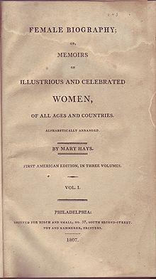 Mary Hays - Wikipedia, the free encyclopedia