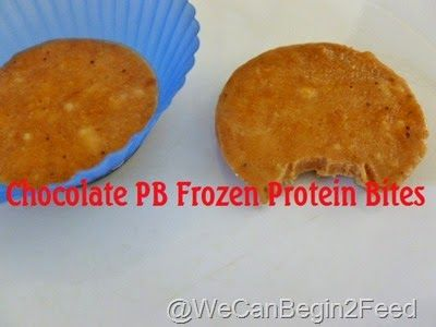 Chocolate PB Frozen Protein Bites with @ncnaturals unflavored whey protein powder #teamNCN