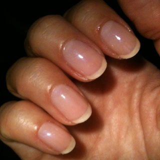 Cnd Shellac In Negligee I Also Used A White Pencil