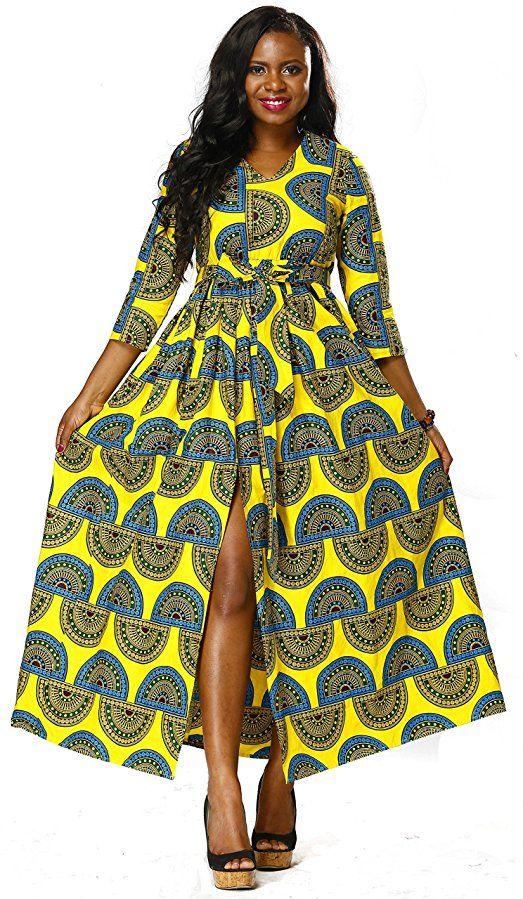 Shenbolen Women Dress Traditional African Dashiki Casual skirt Party Dress  (Small 9b844d3bb442