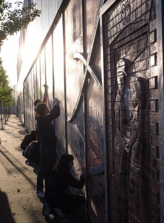Peace Wall that separates the Catholics and Protestants within Belfast, Ireland