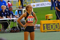 Kajsa Bergqvist - indoor world record high jumper, 2.08m