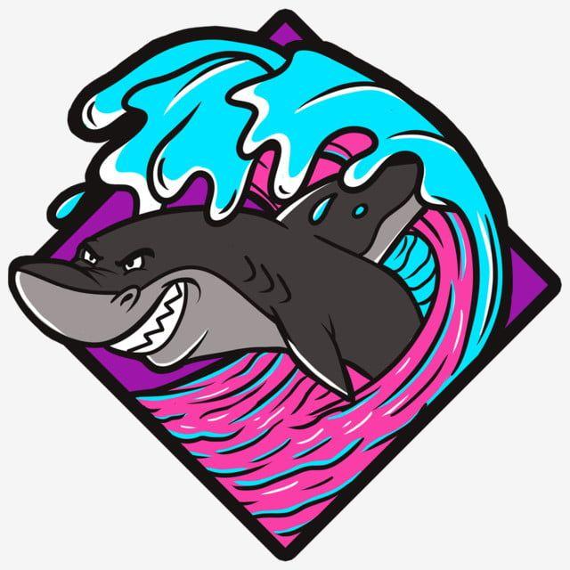 ฉลามและ Wave1 ปลาฉลาม Psd Pngภาพ Png และ Psd สำหร บดาวน โหลดฟร ในป 2021 ฉลาม