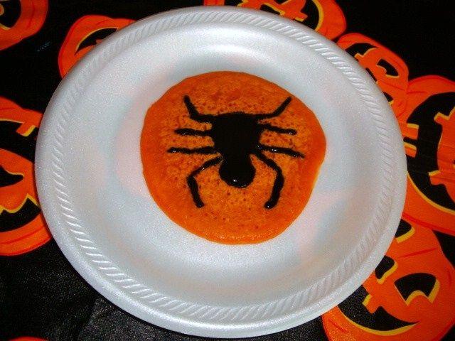 Pumpkin Pancakes with Black Cinnamon Syrup