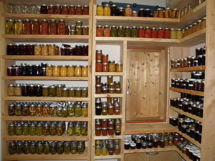 Beautiful Canning Shelves Hoarding The Harvest