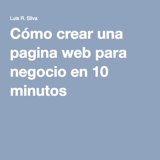 Cómo crear una pagina web para negocio en 10 minutos