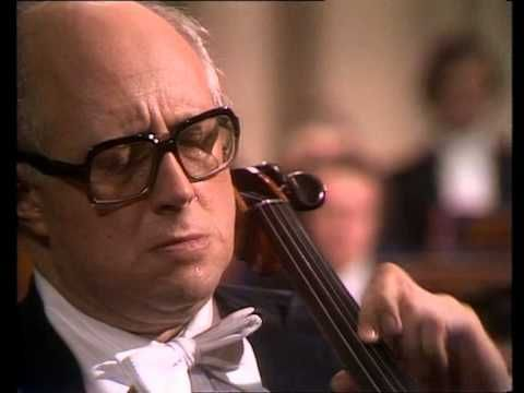 Dvorák - Concerto in B minor Op. 104 for Violoncello and Orchestra, with the all-time great cellist Mstislav Rostropovich, with Carlo Maria Giulini cond. the London Philharmonic Orchestra. - YouTube