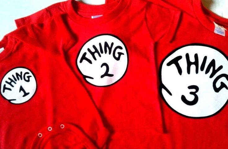 DR. SEUSS THING ONE 1 2 3 4 5 6 thing 1 and thing 2 t shirt youth adult infant #RABBITSKINSGILDANHANES
