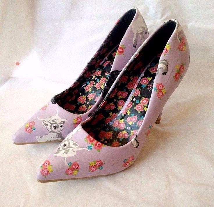 Iron Fist Womens Lamb Chop Heel Light Purple Court Shoes Womens Size 8 (UK 6) #IronFist #Heels #Party