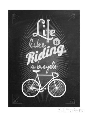 Bicycle Vintage Typographical Background Poster di Melindula su AllPosters.it