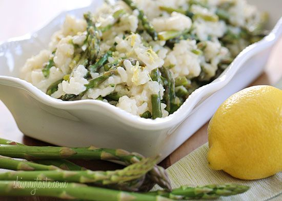 Spring Asparagus Risotto, from Skinnytaste