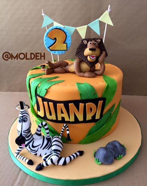 Pastel de Cumple de Madagascar // Madagascar Birthday cake // Alex and Marty