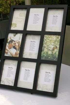 Photo-frame as wedding seating chart #Recipes