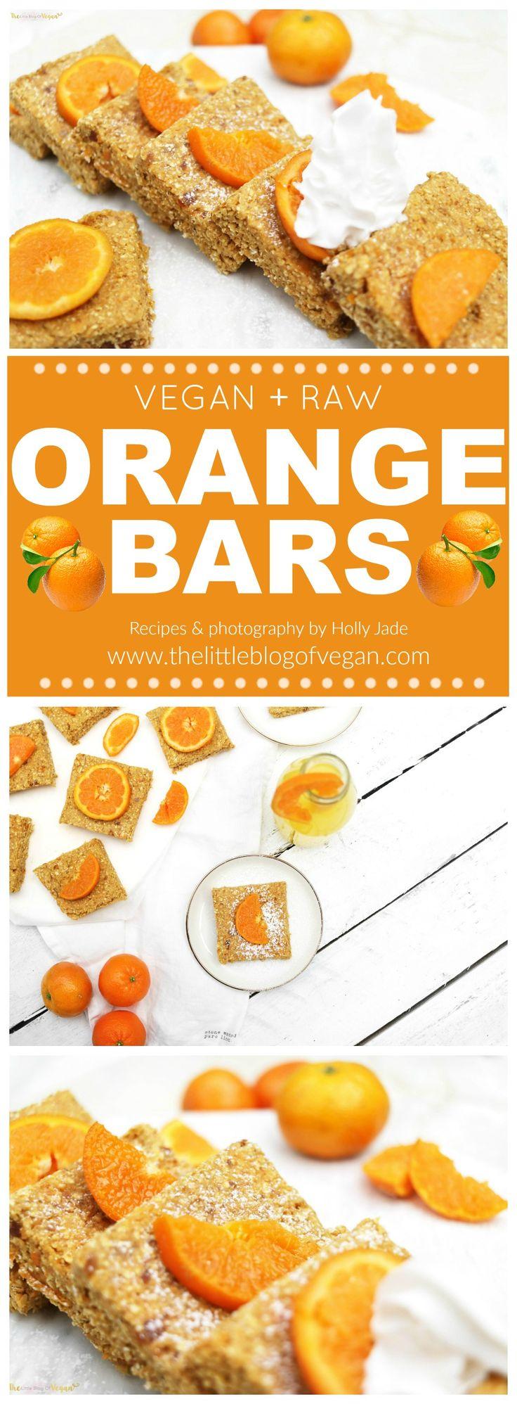 RAW, vegan & gluten-free zesty orange bars, ultra refreshing, perfect /healthy treat.