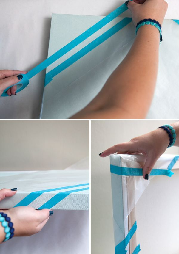 #DIY ~ large gallery style painted canvas as your wedding guest book, so cute!                                                                                                                                                     More