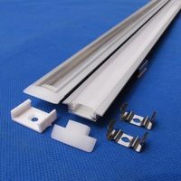 20pcs/ lot(20M);1m per piece Edge Alloy channel Aluminium Profile bar for Led Strip Light Cabinet Kitchen QC2507-1M