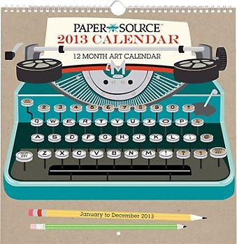 2013 Paper Source Art Grid Calendar. I love this calendar and it would add the perfect touch to my writing space.