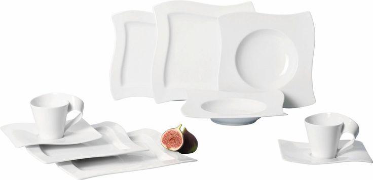 VILLEROY & BOCH Basic-Set Porzellan »NEW WAVE« weiß, spülmaschinenfest Jetzt bestellen unter: https://moebel.ladendirekt.de/kueche-und-esszimmer/besteck-und-geschirr/geschirr/?uid=1c97a954-d62b-5151-937e-48723e142c3a&utm_source=pinterest&utm_medium=pin&utm_campaign=boards #geschirr #porzellan #kueche #basicset #esszimmer #besteck