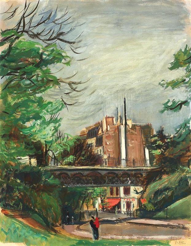 Parisian Park, Iosif Iser Romanian 1881-1858