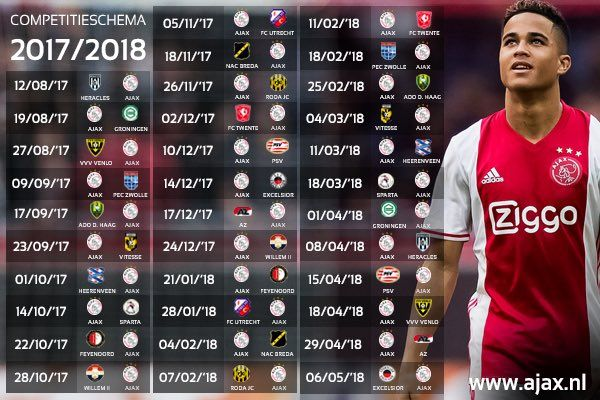 """AFC Ajax op Twitter: """"Laat het nieuwe seizoen maar komen! 📆 Meer info ▶️ https://t.co/Oaa4R0Bn32 #wijzijnajax https://t.co/LnvxnPx2tO"""""""