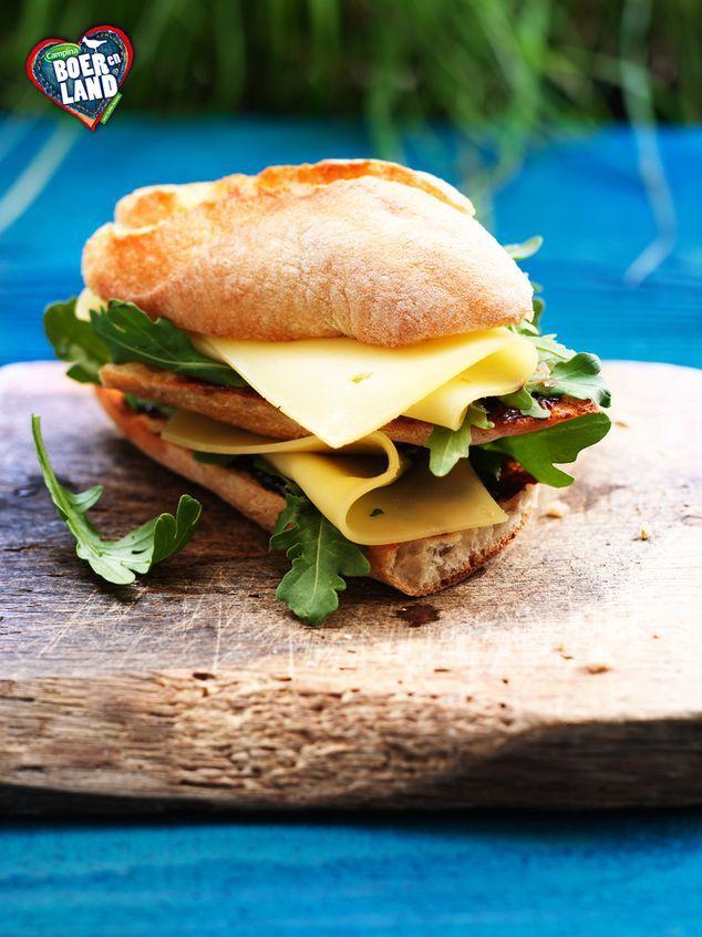 dubbele boeren sandwich met appelstroop, rucola en jonge kaas | ZTRDG magazine #campinaboerenland