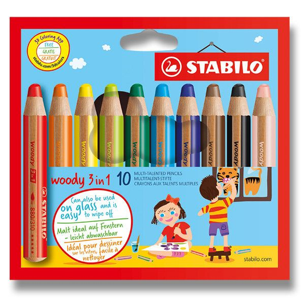 3v1 - pastelka, voskovka a akvarelová pastelka  http://activacek.cz/produkt/pastelka-stabilo-woody-3-in-1-4868/