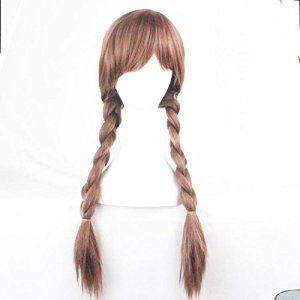 Photo Pal 70cm Cosplay Perruque Cheveux Synthétiques Halloween Soirée Déguisement 2 Tresses
