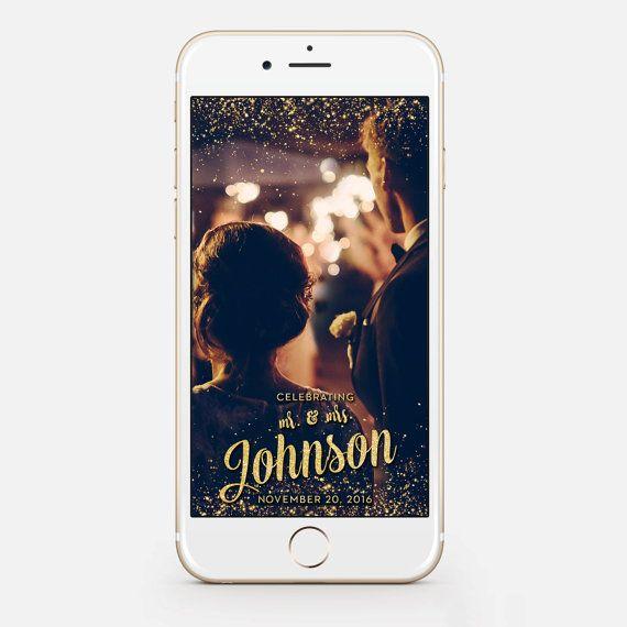 Custom Snapchat Sparkle Gold Wedding by JessicaMichaelPrints
