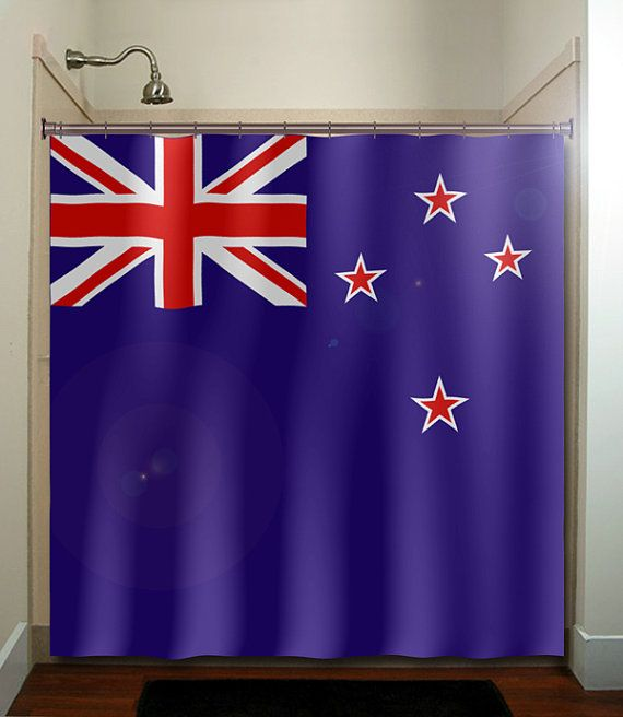 New Zealand flag shower curtain