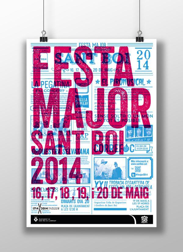 Festa Major de Sant Boi 2014 by Marc Pallàs, via Behance