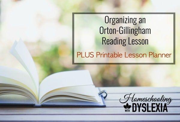 Orton-Gillingham Reading Lesson