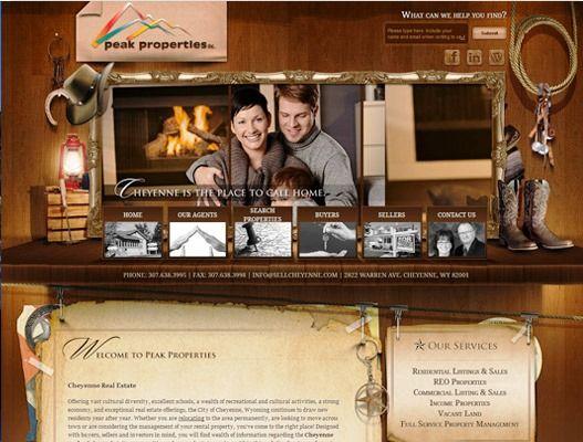 Website Real Estate Desain Terbaik - Peak Properties - Cheyenne, WY